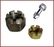 Hex Slotted Bolts & Nuts Manufacturers Delhi